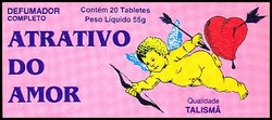 Tabletwierook 'Atrativo do Amor' van het merk Talismã.